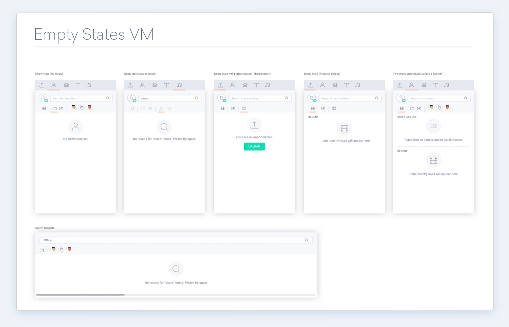 We inventoried every UI element, including empty states